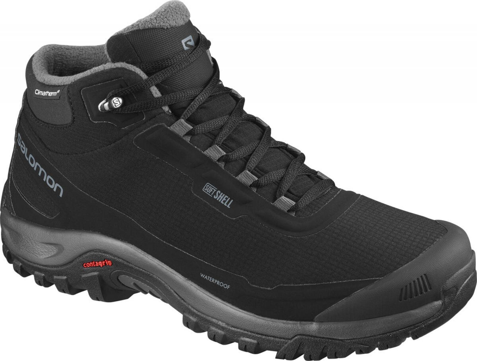 Pánska zimná obuv Salomon SHELTER CS WP Black / EBONY/BLACK