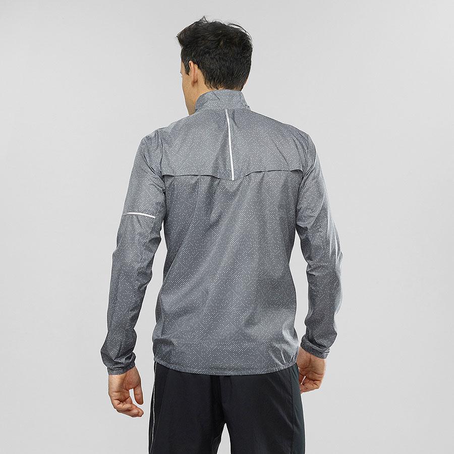 Bežecká bunda Salomon AGILE WIND JKT M Quiet Shade Graphite Bk ec6e44bc9c0
