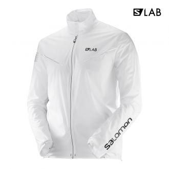 Pánska bežecká bunda Salomon S/LAB LIGHT JKT M White