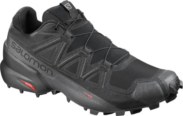 Pánska trailová obuv Salomon SPEEDCROSS 5  WIDE Black / Black / Phantom