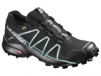 Dámska bežecká obuv SALOMON SPEEDCROSS 4 GTX W Black Metallic Bubble Blue