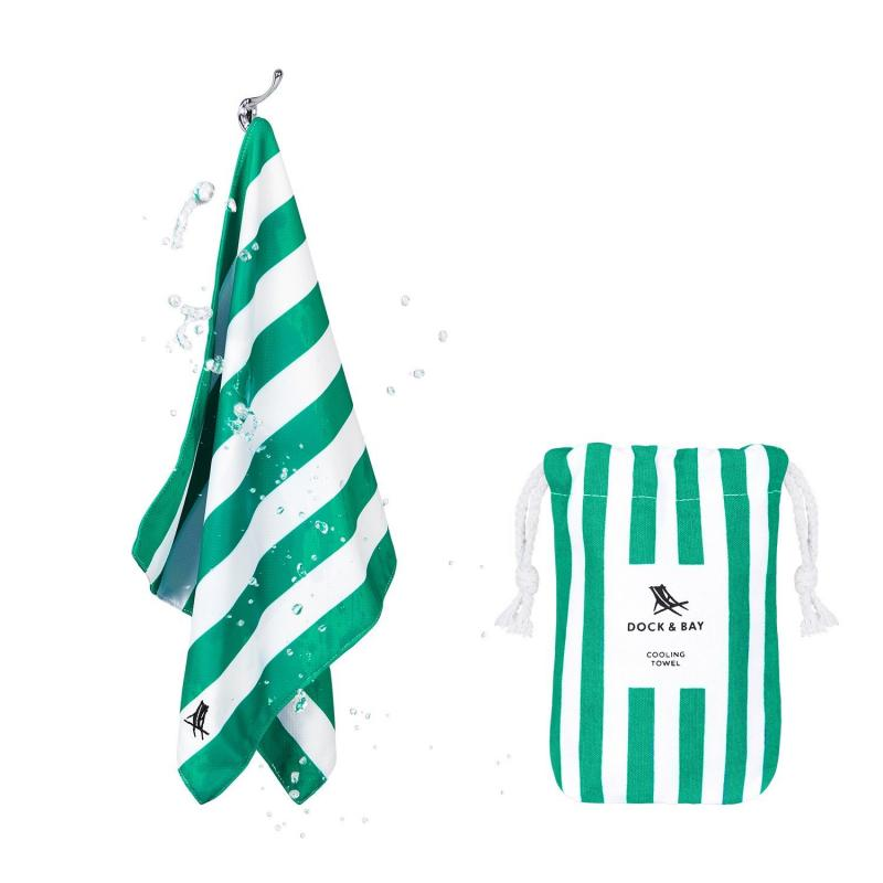Fitness uteráčik DOCK&BAY COOLING STRIPE Cancun Green