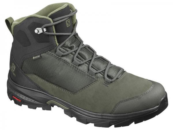 Pánska trekingová obuv Salomon OUTward GTX Peat / Black / Burnt Olive