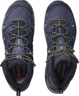 Dámska turistická obuv SALOMON X ULTRA 3 WIDE MID GTX W Crown Blue / Sunny Lime