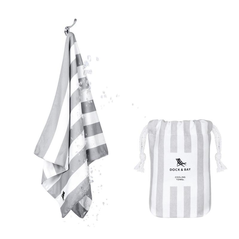 Fitness uteráčik DOCK&BAY COOLING STRIPE Goa Grey