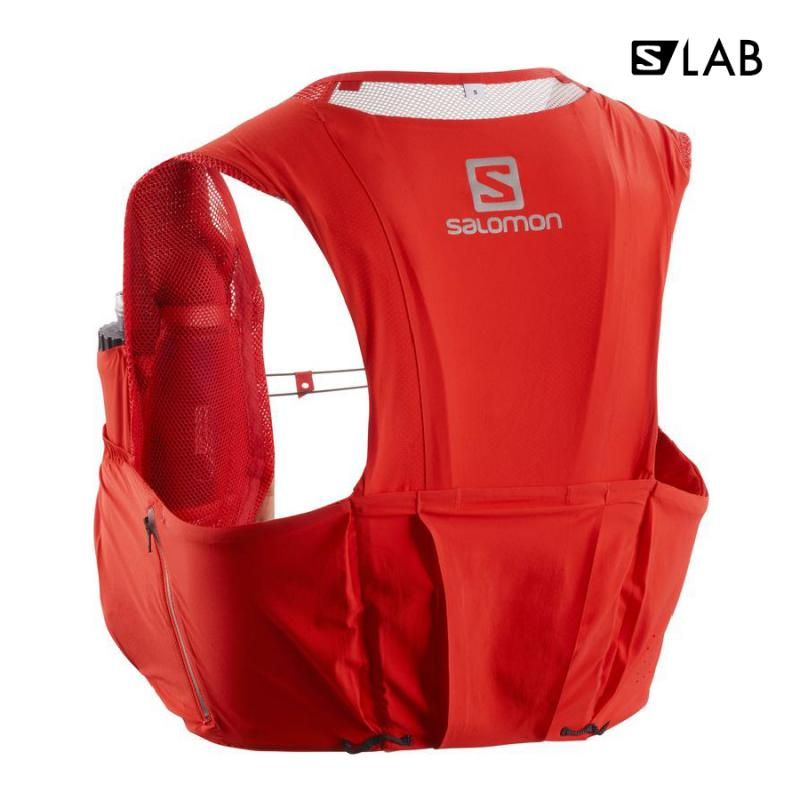 Bežecký batoh Salomon S/LAB SENSE ULTRA 8 SET Racing Red