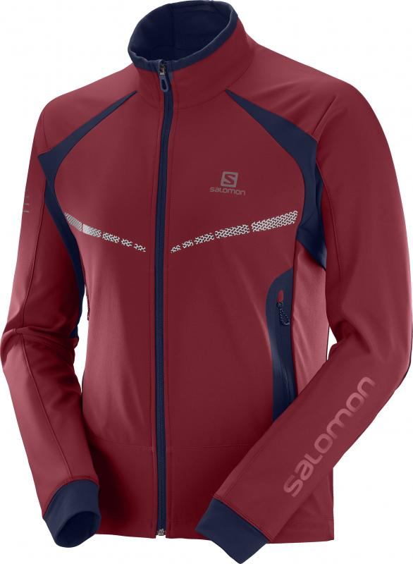 Bežecká bunda RS WARM SOFTSHELL JKT M Biking Red/Night Sky