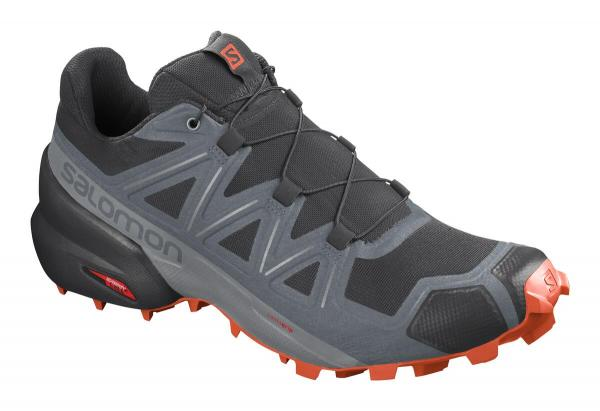 Pánska trailová obuv Salomon SPEEDCROSS 5 Black / Stormy Weather / Red Orange