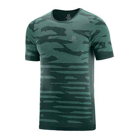 Bežecké tričko Salomon XA CAMO TEE Green Gables / Heather