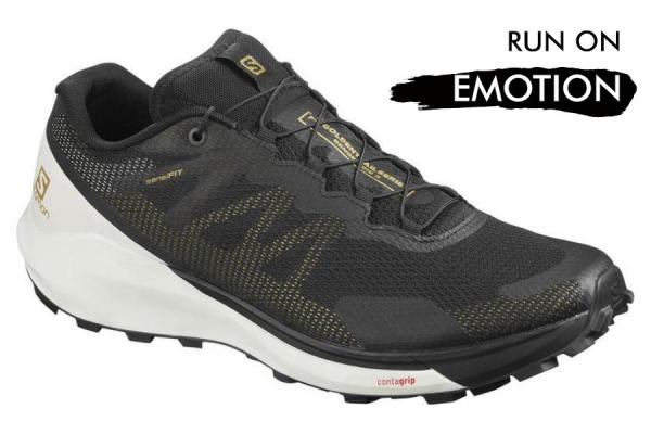 Bežecká obuv Salomon SENSE RIDE 3  LTD EDITION Black / White / Black