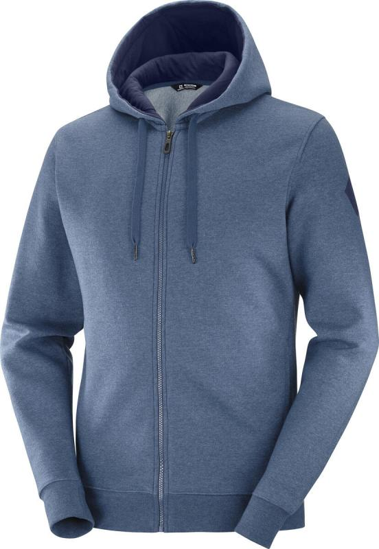MIKINA SALOMON SHIFT FZ HOODIE M DARK DENIM/Heather