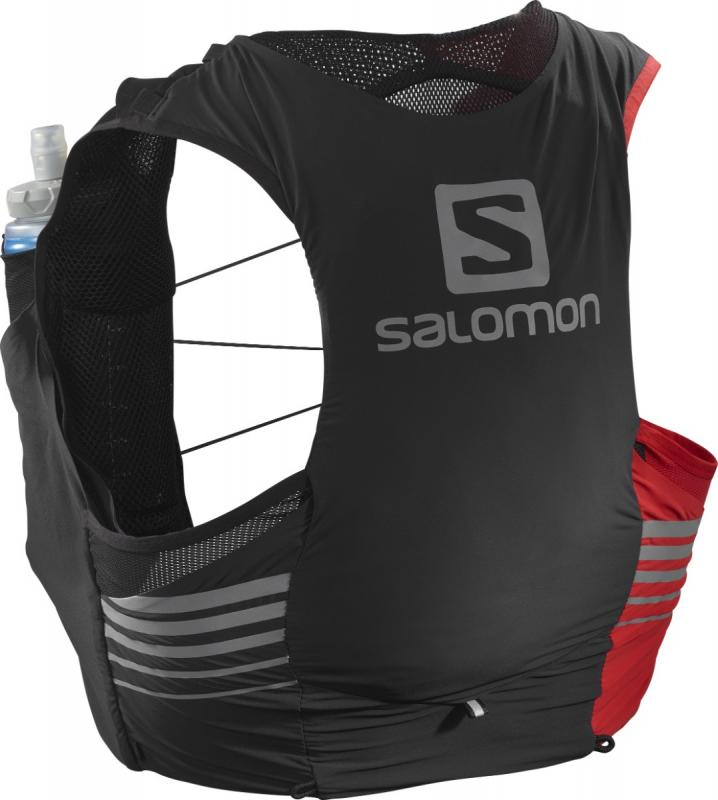 Bežecká vesta Salomon SENSE 5 SET LTD ED Black / Goji Berry