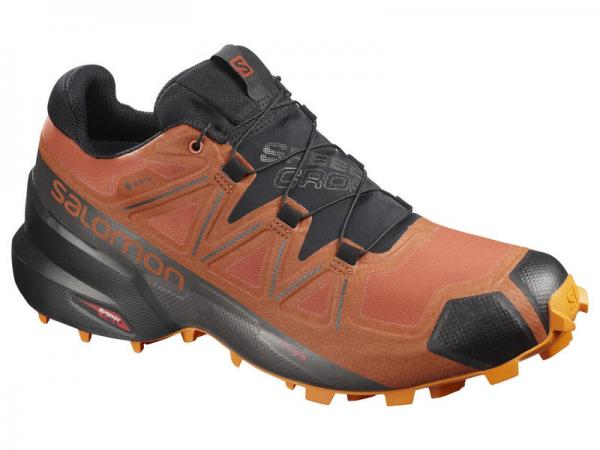 Pánska trailová obuv Salomon SPEEDCROSS 5 GTX Burnt Brick / Black