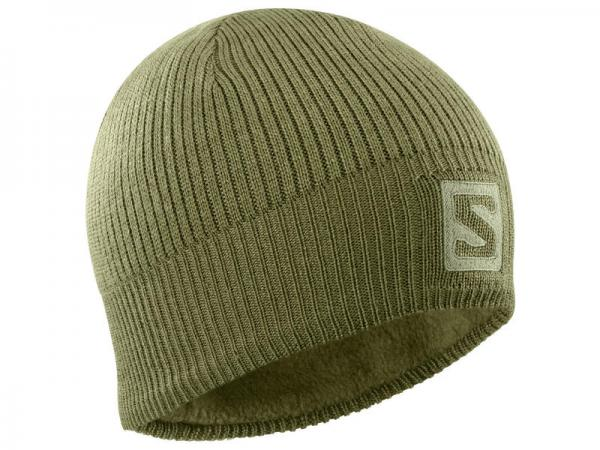 Čiapka Salomon LOGO BEANIE Martini Olive / Olive Night