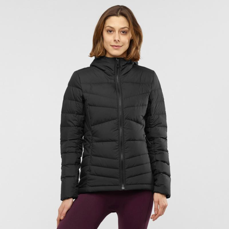 Dámska vetrovka Salomon TRANSITION DOWN HOODIE W Black