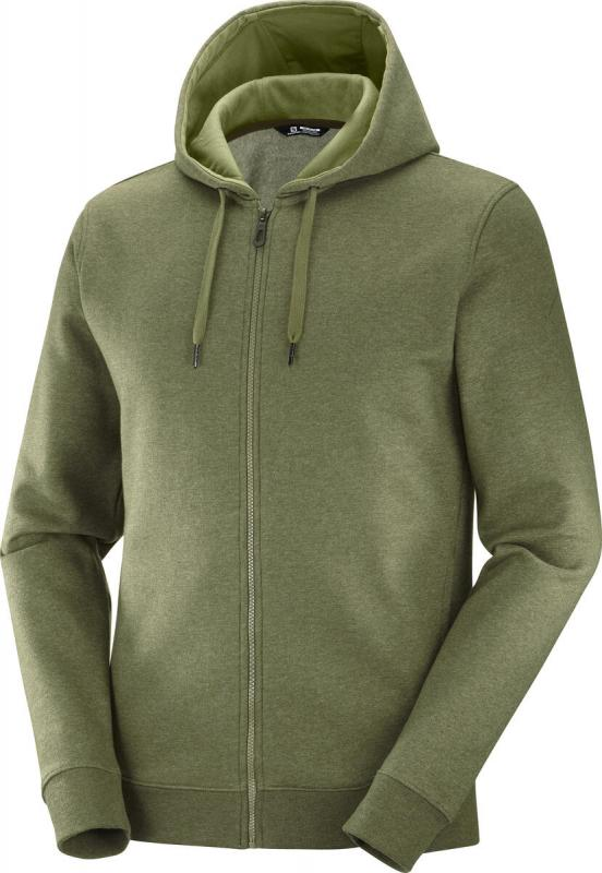 MIKINA SALOMON SHIFT FZ HOODIE M Olive Night / Heather