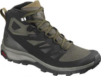 Turistická obuv Salomon OUTline Mid GTX Black/Beluga/Capers
