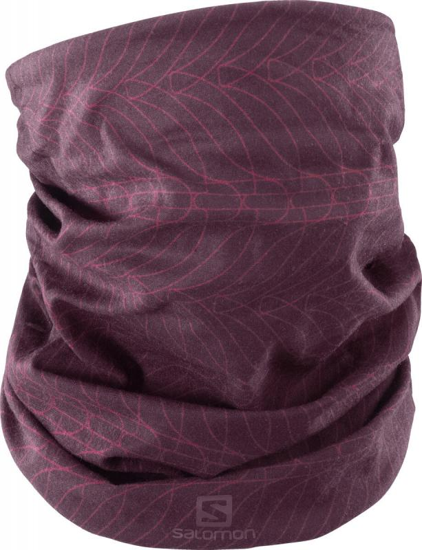 Salomon NECK&HEAD LIGHT GAITER Winetastin/Mauve