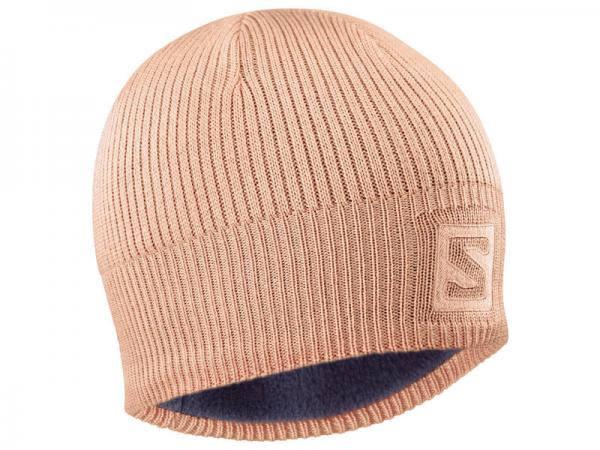 Čiapka Salomon LOGO BEANIE Tropical Peach / Salmon
