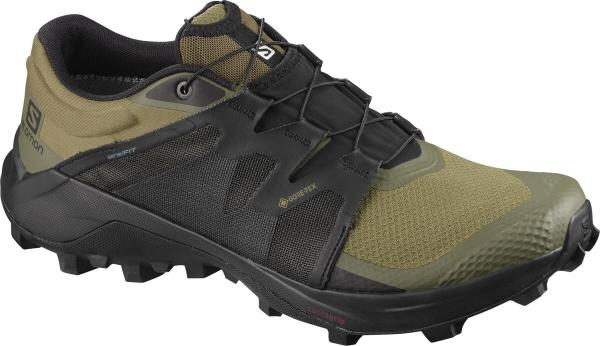 Pánska trailová obuv Salomon WILDCROSS GTX Martini Olive / Black / Olive Night