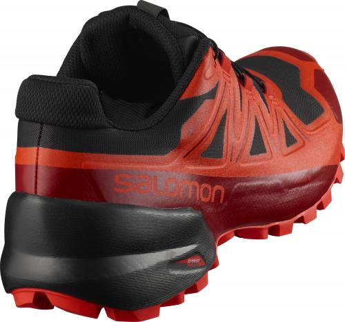 Pánska trailová obuv Salomon SPIKECROSS 5 GTX Black / Red Dahlia