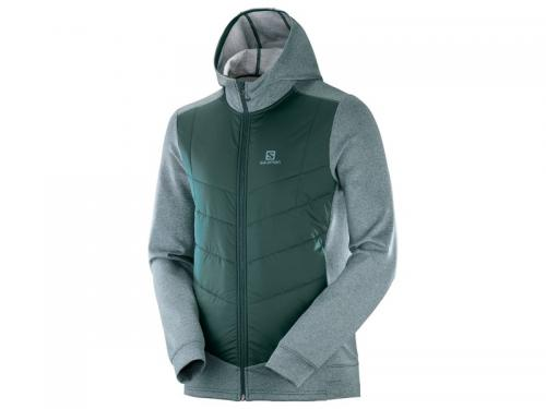 Bunda SALOMON PULSE HYBRID HOODIE M Green Gables