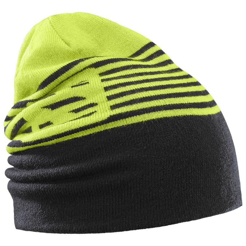 Čiapka Salomon FLATSPIN REVERSIBLE BEANIE Acid Lime