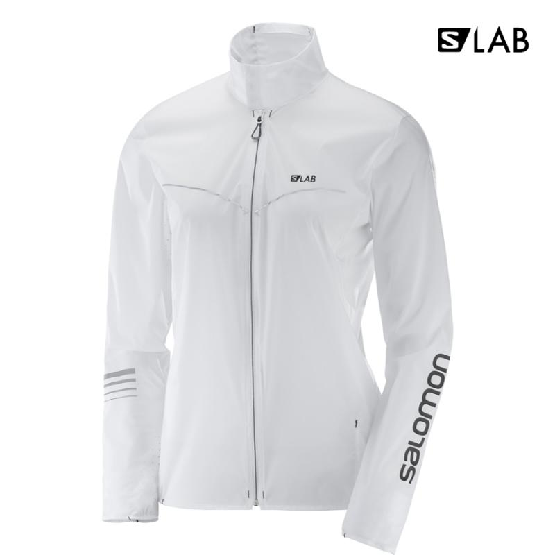 Dámska bežecká bunda Salomon S/LAB LIGHT JKT W White