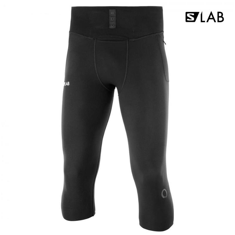 Bežecké nohavice S/LAB NSO MID TIGHT M Black