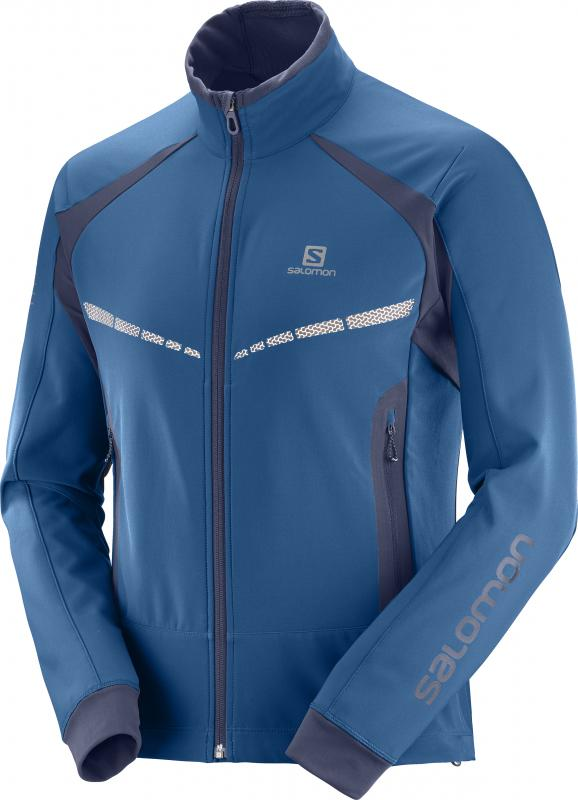 Bežecká bunda RS WARM SOFTSHELL JKT M Poseidon/Night Sky