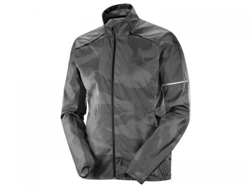 Bežecká bunda Salomon AGILE WIND JKT M Ebony / Black/ P